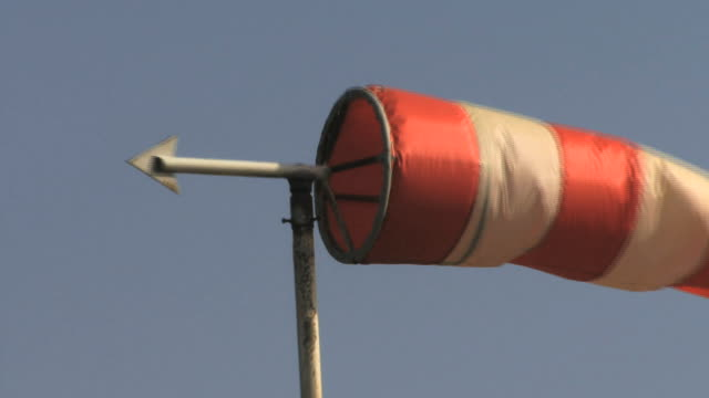 wind sock blowing in airfield, london, uk - airfield stock videos & royalty-free footage