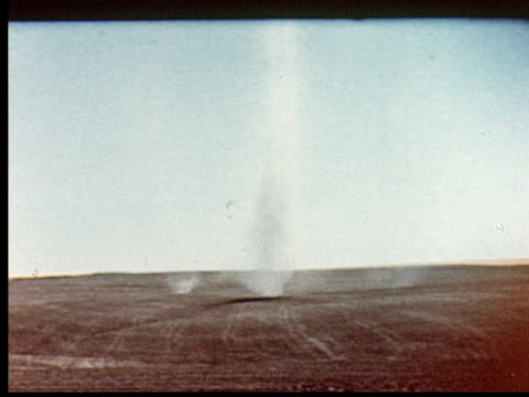 wind spouts + tornadoes blow across dusty plains. dust storm / usa / audio - 1949 stock videos & royalty-free footage