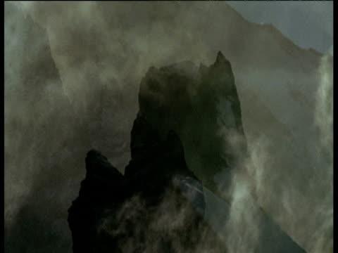 Wind swept snowy Andean peaks