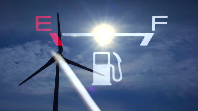 wind turbine and fuel gauge - petrol stock videos and b-roll footage