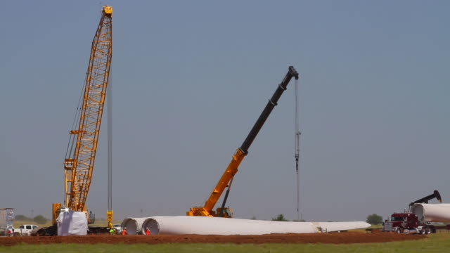 wind turbine blade unload - blade stock videos & royalty-free footage