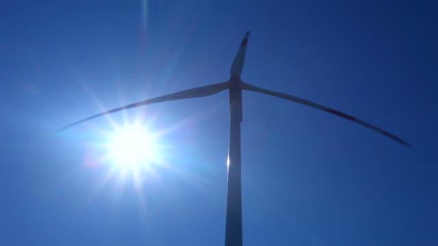 Wind Turbine - blue sky