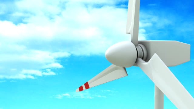 vídeos de stock e filmes b-roll de turbina eólica plano aproximado - matte image technique