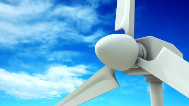 stockvideo's en b-roll-footage met wind turbine close-up - beeldtechniek