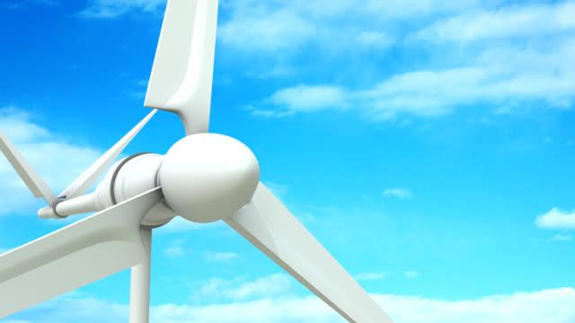 vídeos de stock e filmes b-roll de close-up da turbina eólica - matte image technique