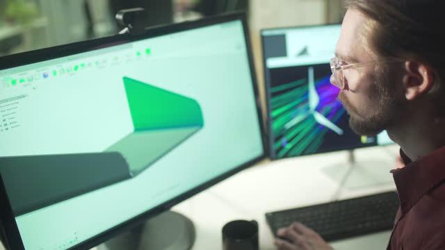 cad-vindturbinkomponent - skicklighet bildbanksvideor och videomaterial från bakom kulisserna