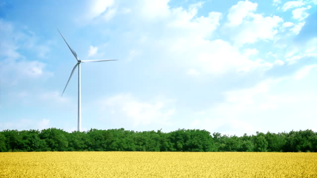 wind turbine - copy space - single object stock videos & royalty-free footage