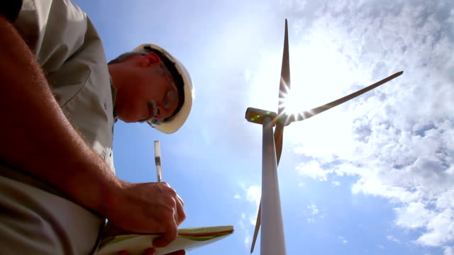 wind turbine evaluation hd - kansas stock videos & royalty-free footage