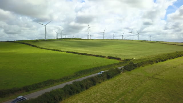 wind turbine fields - green energy - power in nature stock videos & royalty-free footage