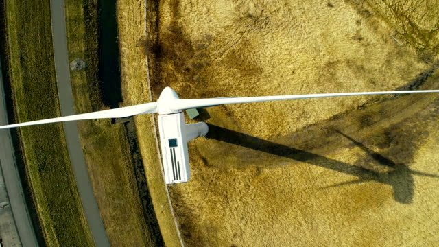 wind turbine from above - wind turbine stock videos & royalty-free footage