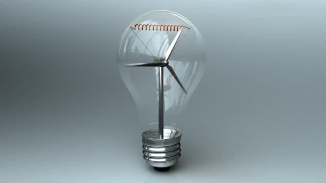 Wind Turbine In Light Bulb
