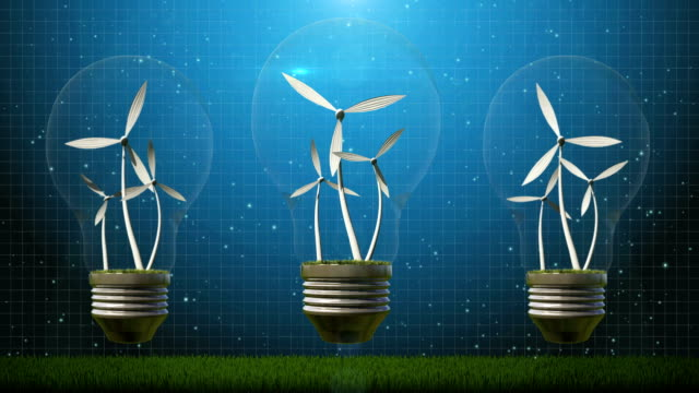wind turbine in light bulb - generator stock videos and b-roll footage
