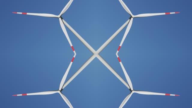 wind turbine kaleidoscope pattern - spegling bildbanksvideor och videomaterial från bakom kulisserna