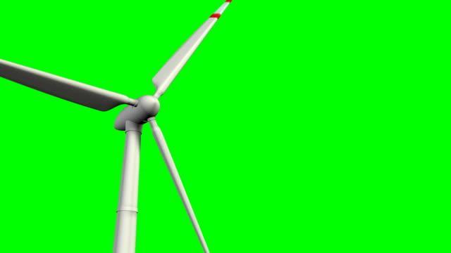 vídeos de stock, filmes e b-roll de turbina eólica na tela verde - propeller