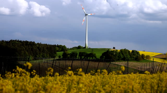 Wind Turbine Operating In Agricultural Landscape