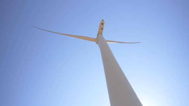 wind turbine power generator farm - architectural column stock videos & royalty-free footage