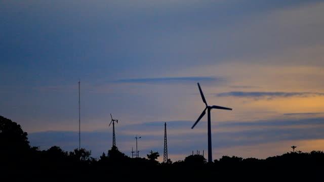 Wind turbine-silhouette