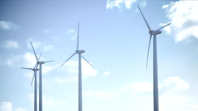 stockvideo's en b-roll-footage met wind turbine sninning - vier dingen