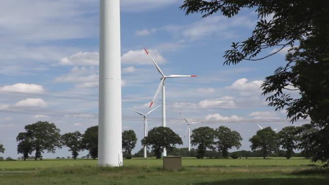 wind turbine turning in the wind