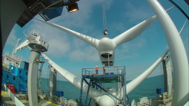 WS, FISH EYE, Wind turbine under construction, Netherlands