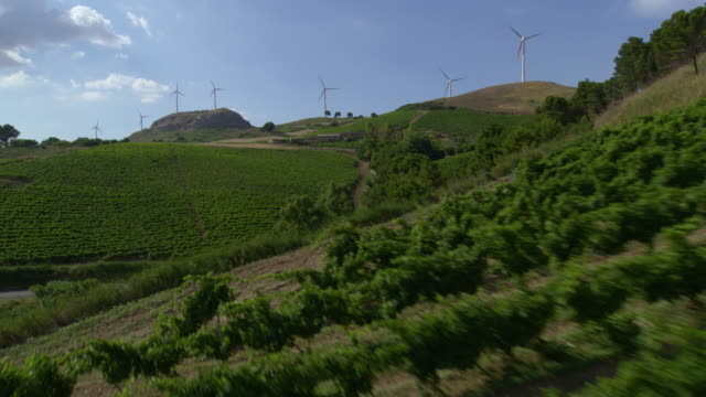 wind turbine - sicily stock videos and b-roll footage