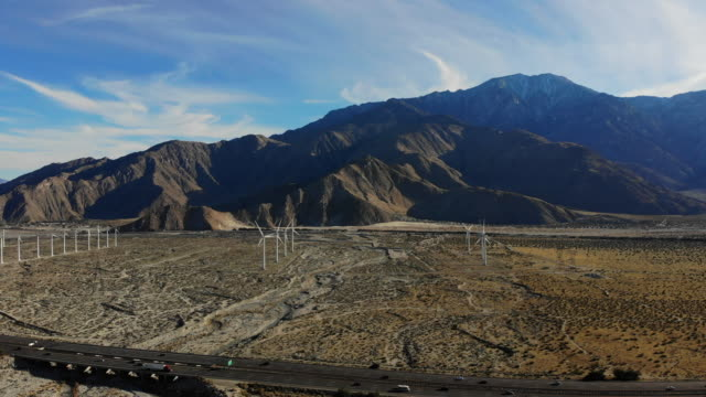 wind turbine - palm springs california stock videos & royalty-free footage