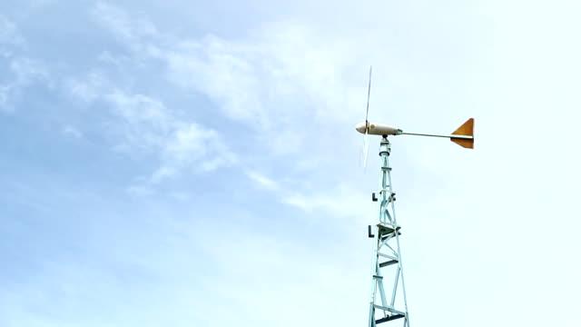 vidéos et rushes de éolienne - de petite taille