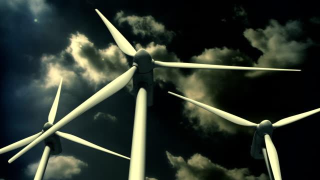 stockvideo's en b-roll-footage met wind turbine (loop) - kleurtoon