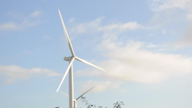 turbina a vento - erezione video stock e b–roll