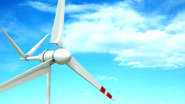 vídeos de stock e filmes b-roll de turbina eólica - matte image technique