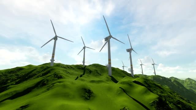 vídeos de stock e filmes b-roll de wind turbine - física