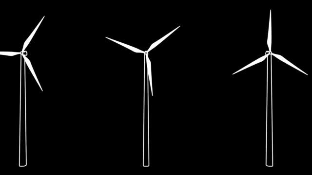 vídeos y material grabado en eventos de stock de wind turbines 06 - vector