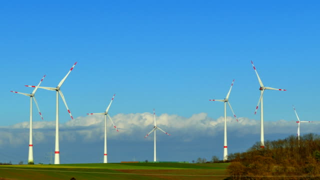 wind turbines 3 - drehen stock videos & royalty-free footage