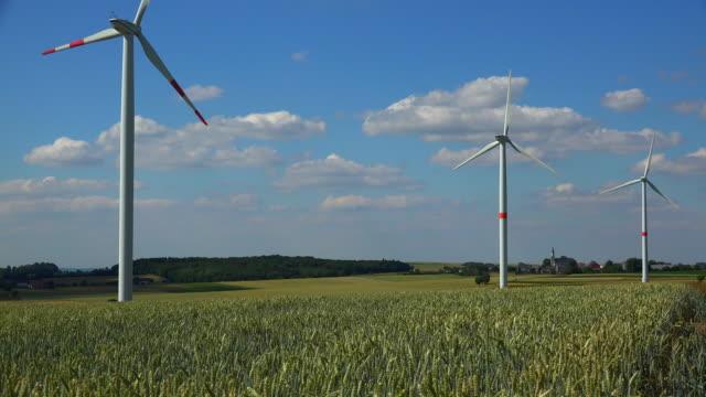 Wind turbines and agrarian land, Saargau, Rhineland-Palatinate, Germany