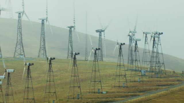 Wind Turbines At Hilly California Wind Farm