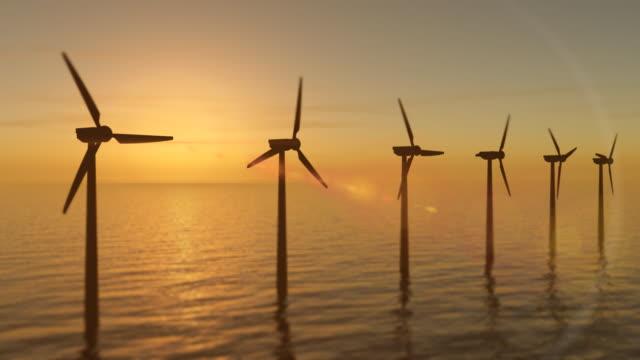 Windturbinen bei Sonnenuntergang