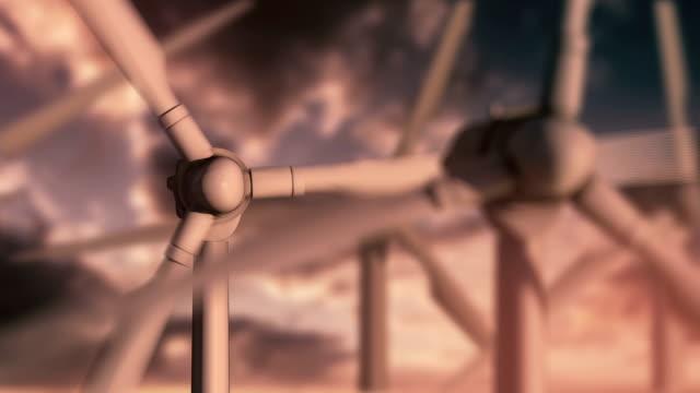 vídeos y material grabado en eventos de stock de turbinas de viento en sunset - recursos sostenibles