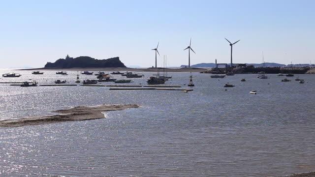 Wind Turbines at Tandohang port of Ansan