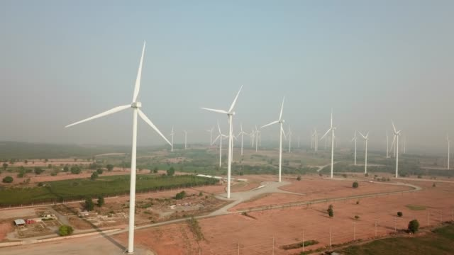 wind turbines farm - wind power stock videos & royalty-free footage