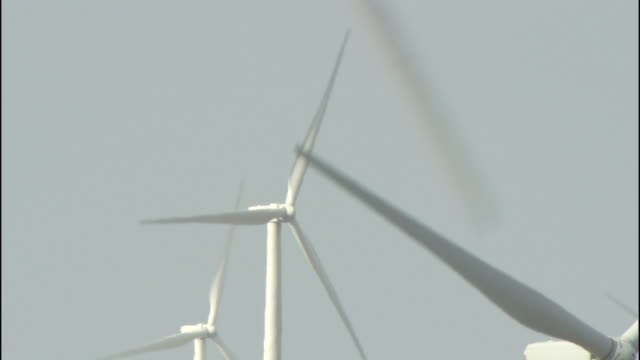 wind turbines generate electricity as they rotate in the klondike wind farm. - klondike stock videos and b-roll footage