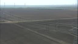 Wind turbines generate electricity at the Roscoe Wind Farm and power     Stock Footage Video