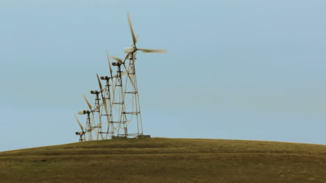 Wind Turbines generating electrical power on Agricultural Land