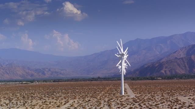 Wind Turbines in a Row - Drone Shot