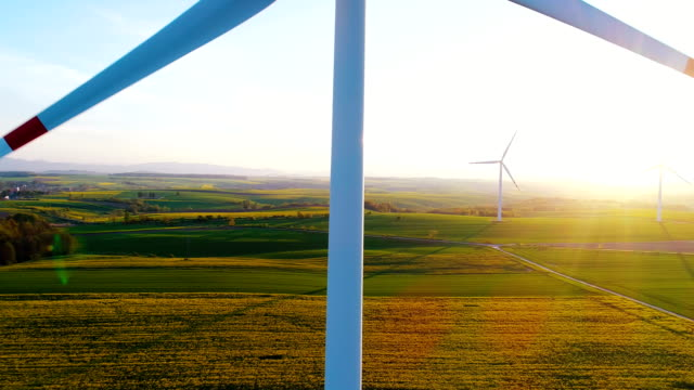 Wind Turbines In Agricultural Fields