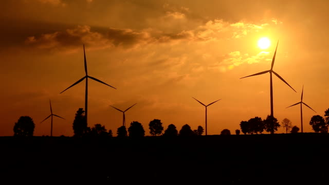 wind turbines in agriculture field - rustic stock videos & royalty-free footage