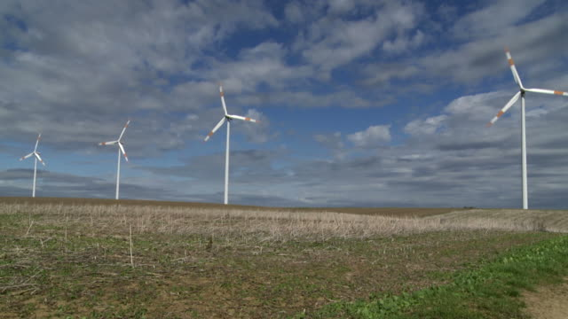 HD Wind Turbines in Autumn (Loopable)