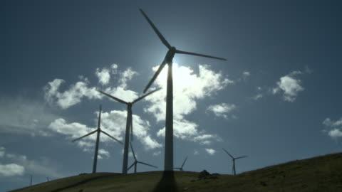 ms, la, wind turbines in field, alameda county, california, usa - wind power stock videos & royalty-free footage