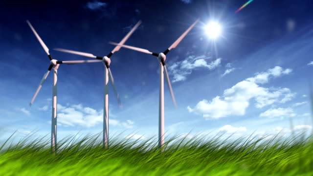 wind turbines in field - machine part stock videos and b-roll footage