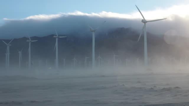 Wind Turbines in Sandstorm