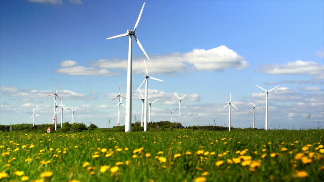 Wind Turbines In Spring Field Cinemagraph